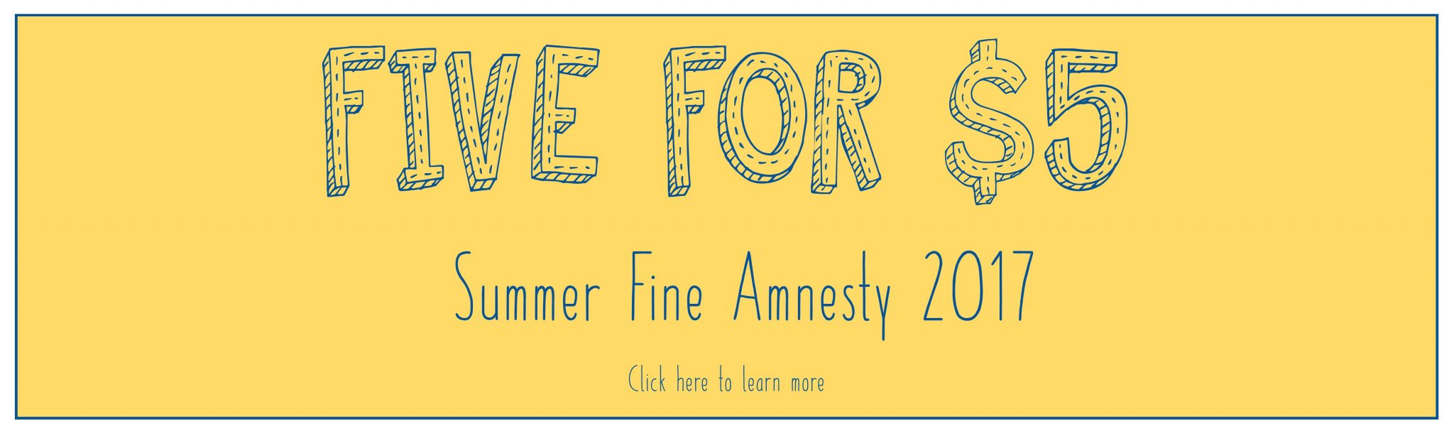 five for 5 amnesty